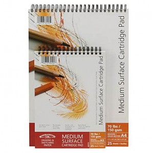 Blok rysunkowy Winsor&Newton Medium Surface Cartridge Pad 21x29,7 na spirali